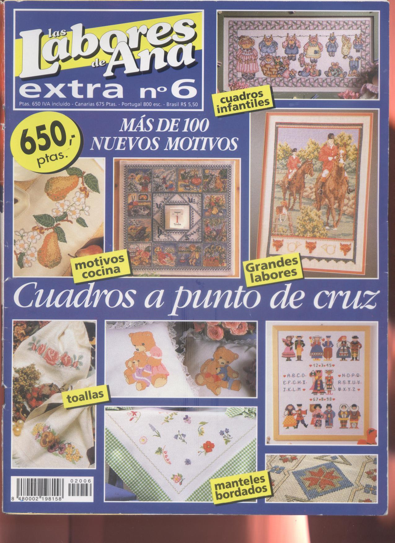 Punto de cruz labores de ana m s de 100 nuevos motivos cuadros toallas manteles - Labores en punto de cruz ...