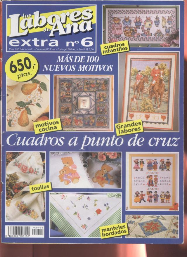 PUNTO DE CRUZ: Labores de ana, más de 100 nuevos motivos, cuadros ...