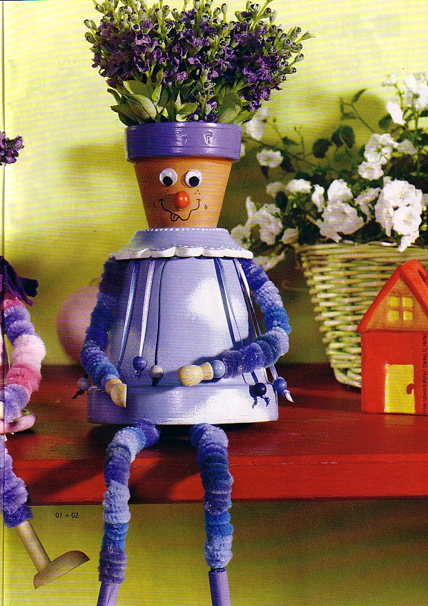 Manualidades con macetas decora el jard n de tu casa la for Manualidades para jardin