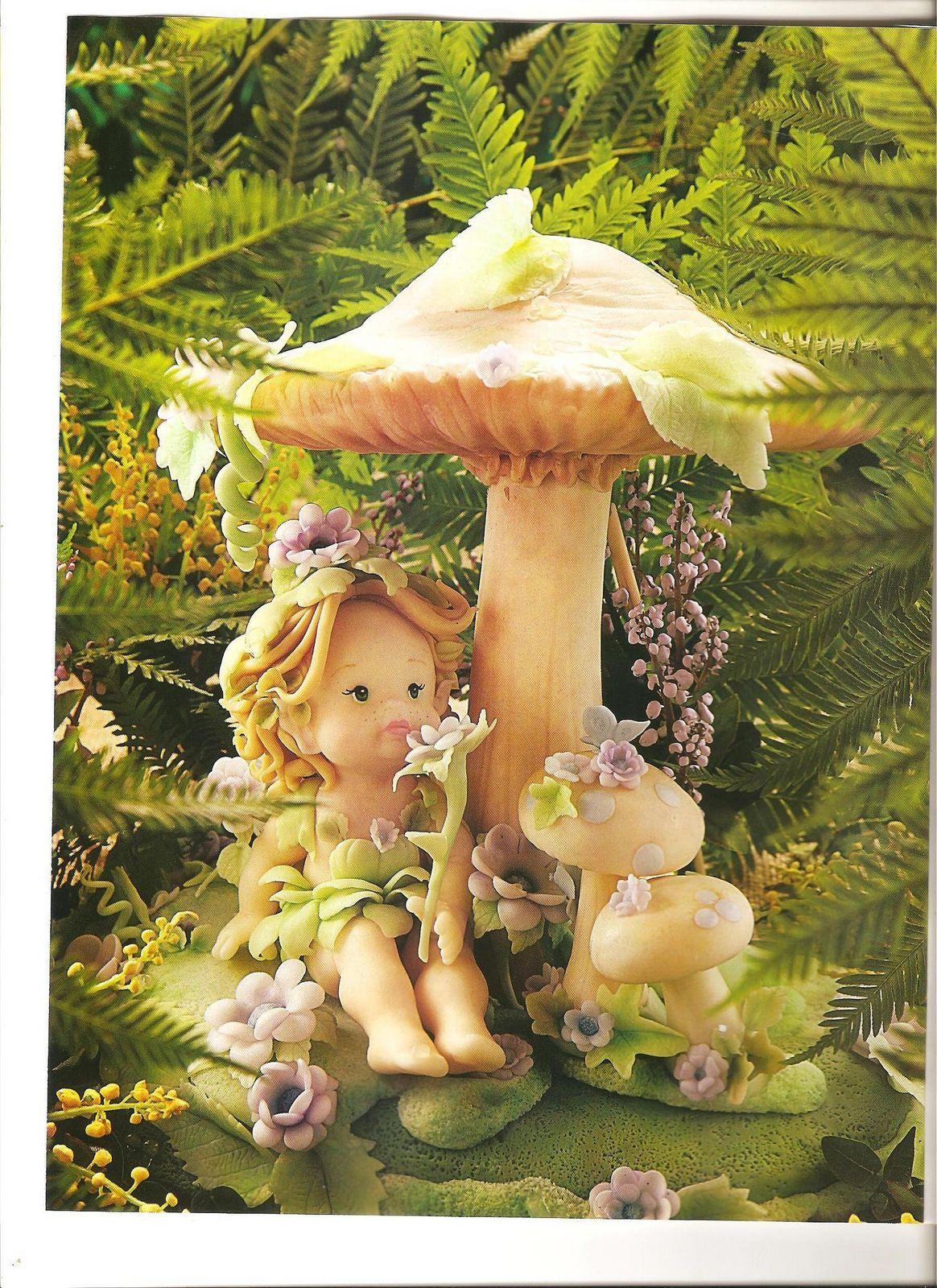 PORCELANA FRÍA: Hadas y duendes realizados por Leticia
