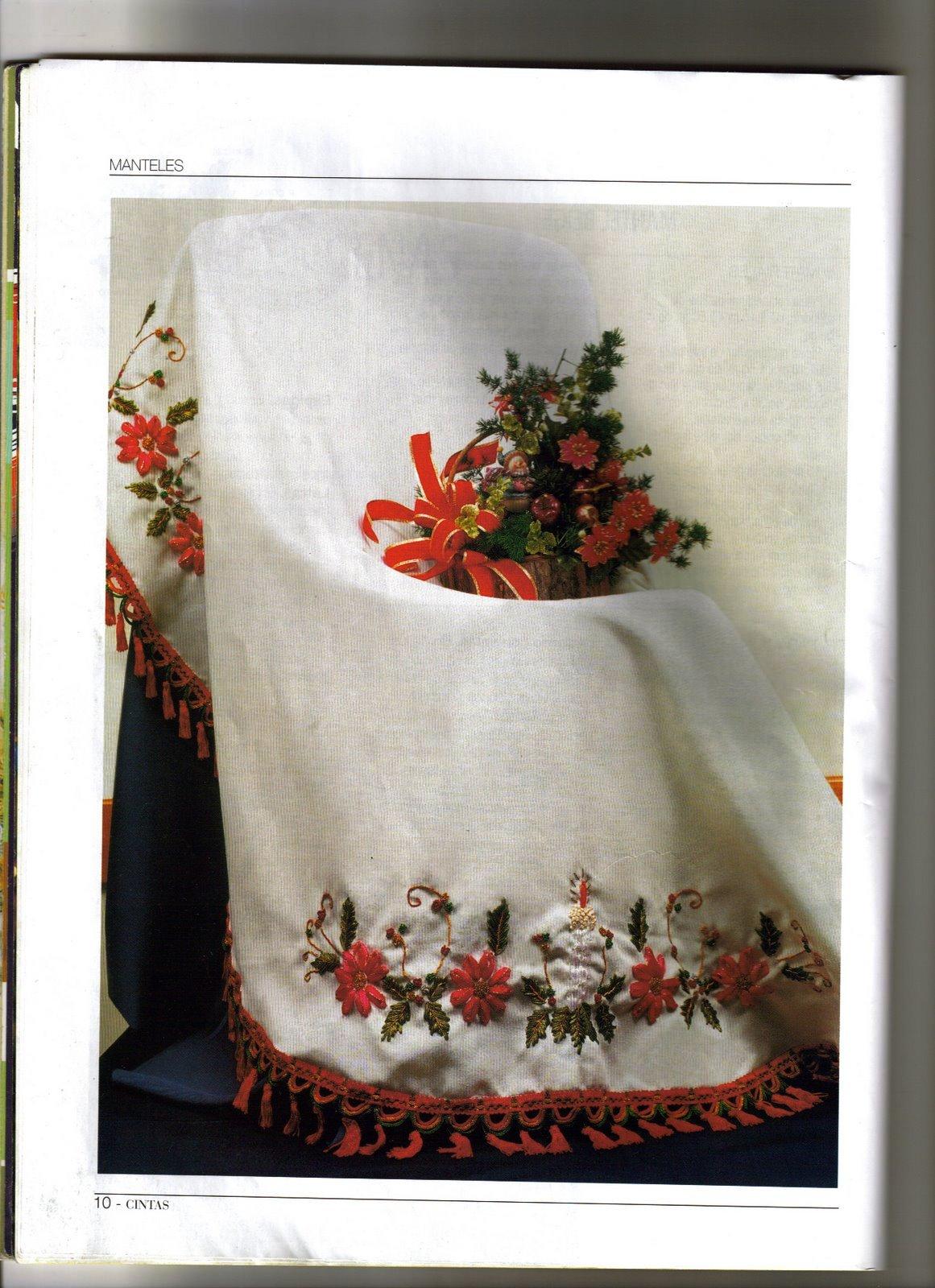 Bordado con cintas especial navidad adornos para el - Cintas navidad para arbol ...