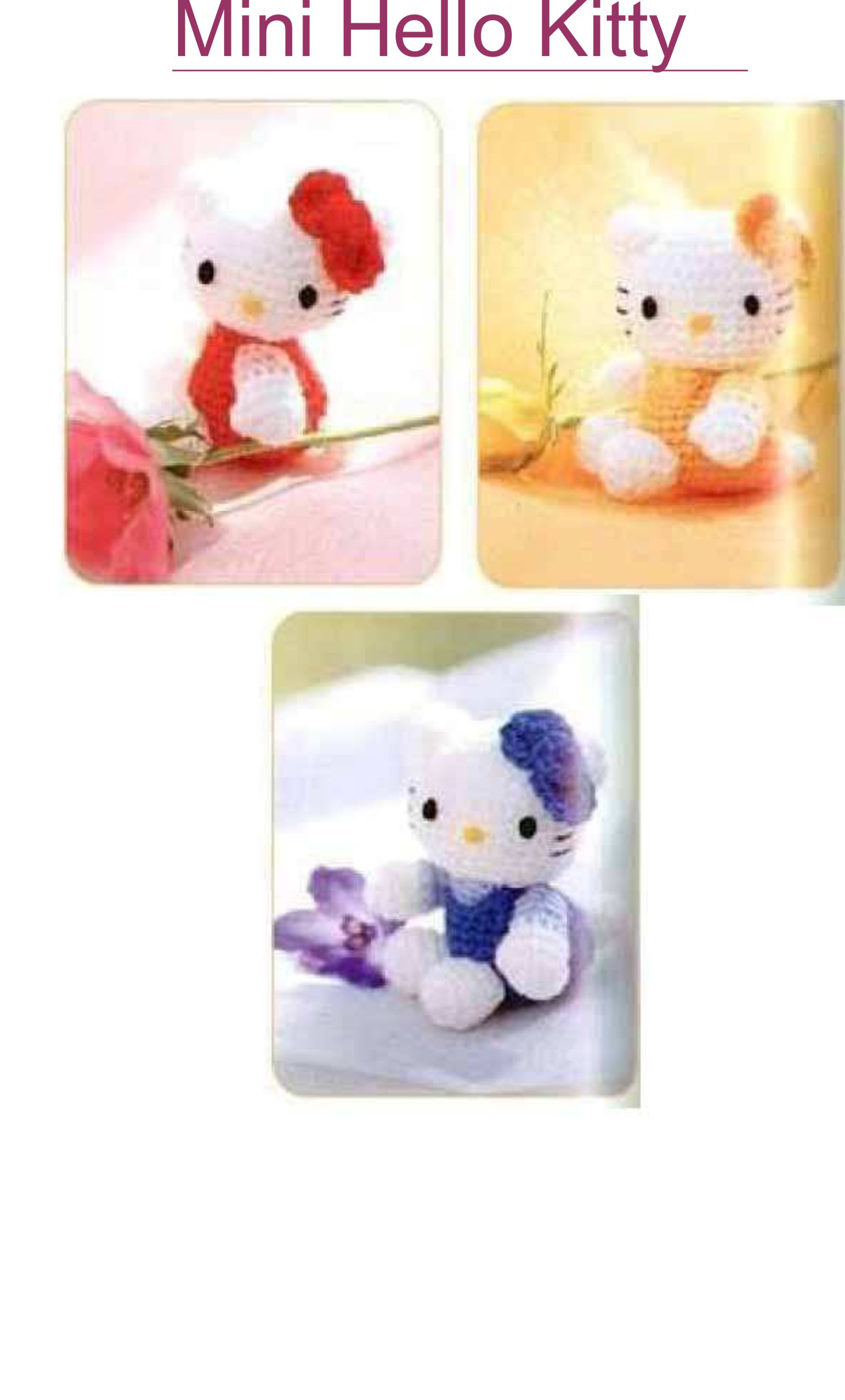 Crochet Hello Kitty free pattern amigurumi | Amigurumi Space | 2697x1628
