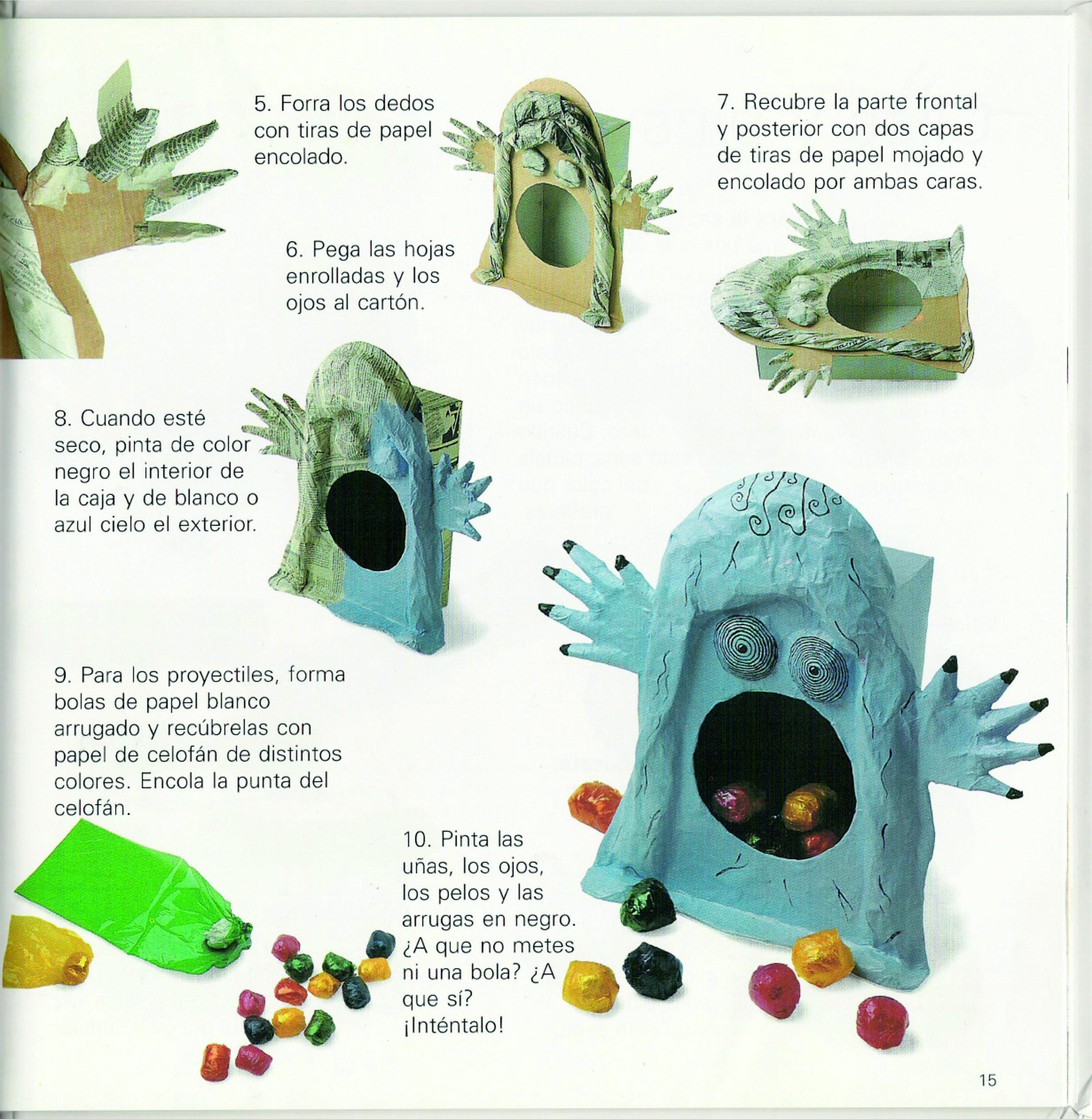 Manualidades con papel mach serpientes fantasmas - Manualidades de madera paso a paso ...